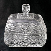 "McKee Glass BRITANNIC honey dish, 5 1/2"" d."