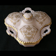 Cambridge elegant crown tuscan gilt DIANE 3 part covered candy box
