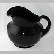 "Elegant Cambridge black pitcher, 8 1/2"" h."