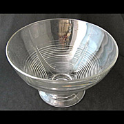 "Cambridge TALLY HO footed punch bowl, 12 3/4"" d."