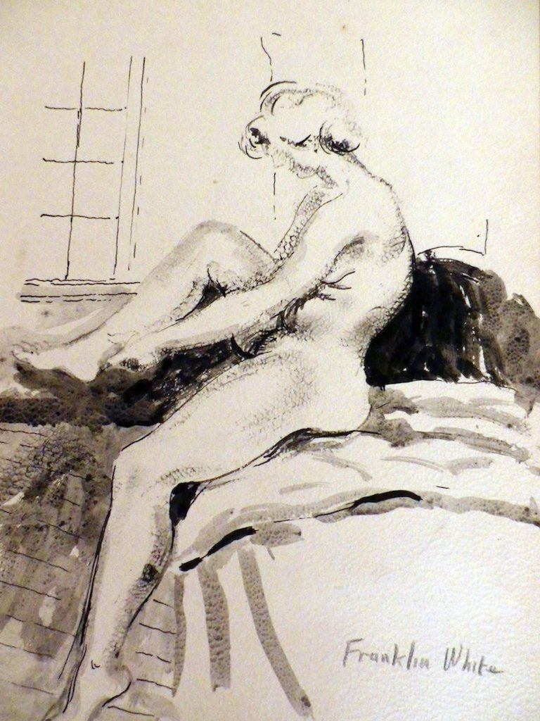 Nude Women Drawing by Franklin White Artist to Queen Elizabeth