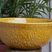 Decorative Haeger Yellow Brown Textured Mixing Bowl