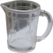 Higbee Miniature Toy Children's Drum Pattern Glass Pitcher