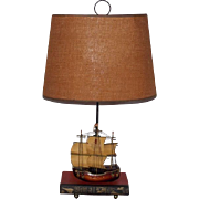 Midcentury Classic Holland Sailing Ship and Book Lamp