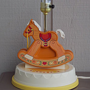 Vintage Fisher Price Rocking Horse Lamp