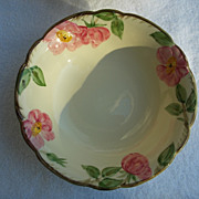 "8"" Round Vegetable Bowl Franciscan China Desert Rose USA Backstamp"