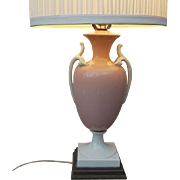 Elegant 1930's Vintage Porcelain Urn Shaped Table Lamp