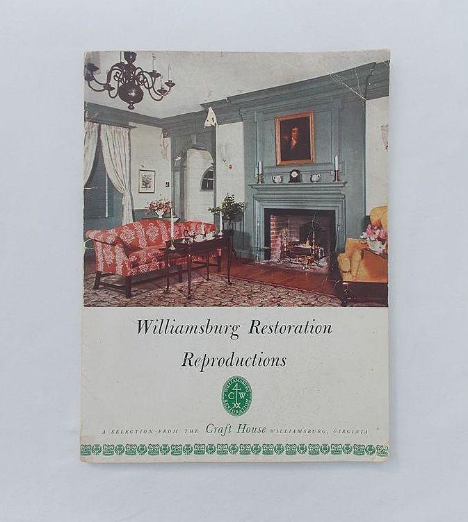 Rare 1952 edition of williamsburg restoration for Williamsburg craft house catalog