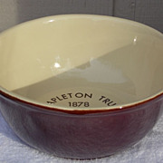McCoy Advertising Lancaster Colony Vintage 1978 Brown 8&quot; Bowl