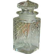 Early 1900's Square Lidded Crystal Pickle Jar