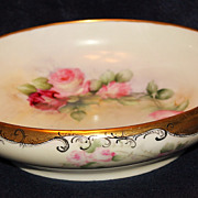 Hand Painted Rosenthal Console Bowl with Roses