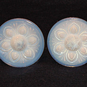 Pair of Opalescent Drawer Pulls