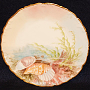 T & V Limoges Hand Painted Sea Life Plate