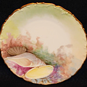 Hand Painted T & V Limoges Sea Life Plate