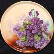 Vividly Colored Lilacs Limoges Charger