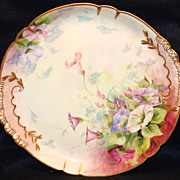 Hand Painted Haviland Limoges Charger with Trumpet Lillies