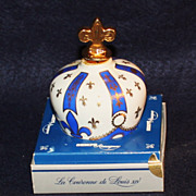 Limoges Sempe Extra Cognac/Armagnac Bottle with Fleur Di Lis Stopper