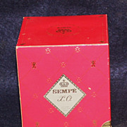 Limoges Sempe XO Cognac/Armagnac Bottle, Cross Stopper in Box
