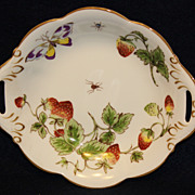 Coalport Strawberry Handled Bon Bon Dish
