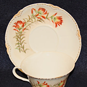Set of Hand Painted Limoges Cups & Saucers Nov. 14, 1899