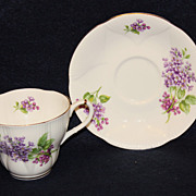 Royal Albert Violets Wayside Series Cup & Saucer