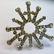 Vintage Crystal Rhinestone Brooch Explosion