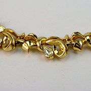 Vintage Trifari Rhinestone Bracelet Bows