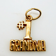 14K Gold Vintage Grandma Charm #1 Grandma 1970's