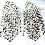 Vintage Hobe Rhinestone Chain Dangle Earrings patented