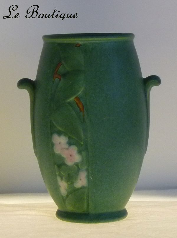 Weller Pottery Velva Green Art Vase in Mint Condition
