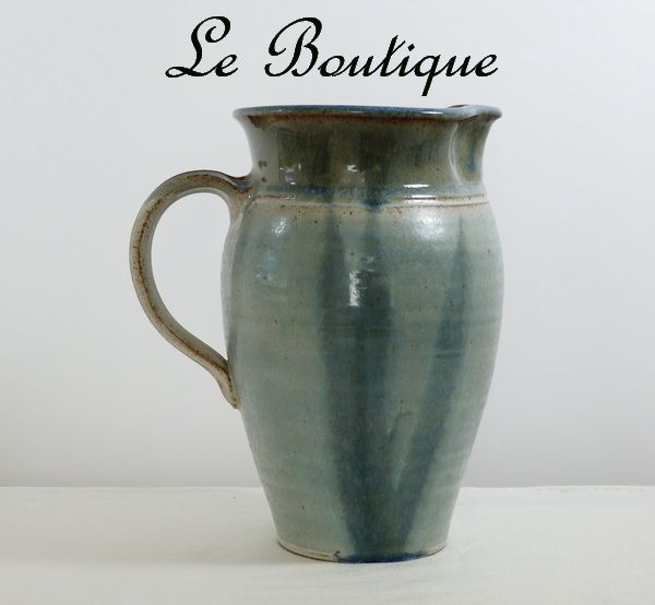Vintage Signed Hand Thrown Clay Art Pottery Jug in Mint Condition
