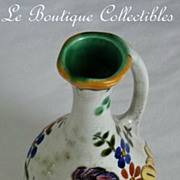 Gouda Holland Bertino Ewer Vase Vintage Mint PZH Plateelbakkerij Zuid