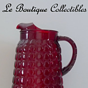 Anchor Hocking Royal Ruby Glass Pitcher Mint