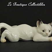 Rosenthal Porcelain Cat Figurine German Mint!