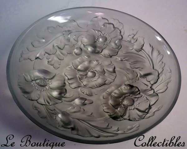 Verlys Art Deco Glass Poppies Bowl