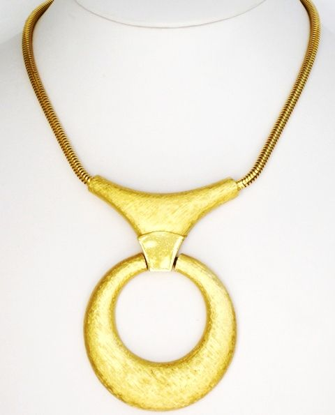 Trifari Modernist Vintage Pendant Necklace