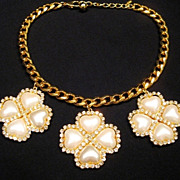 Rare ESCADA Crystal Jeweled Vintage Runway Necklace