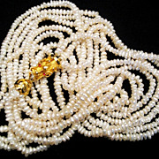 Genuine Pearl Dragon Vintage Multi-Strand 2-in-1 Necklace