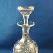 Perfume Bottle American Brilliant Period Cut Glass