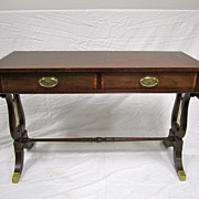 Magnificent Baker Furniture Signed Mahogany Drop Leaf Console Table