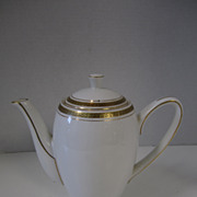 Wedgwood England Bone China Gold Trim Tea Pot