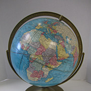 SOLD Illuminated Globe Lamp