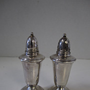 Crown Sterling Silver Weighted Salt & Pepper Shakers