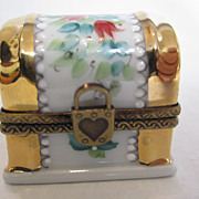 Limoges White Trunk Box
