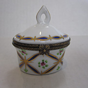 Limoges White Box with Finial