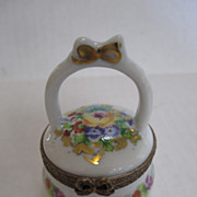 Limoges White Basket Box