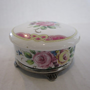Limoges Round Box on Silver Feet