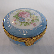 Limoges Round Powder Blue Box