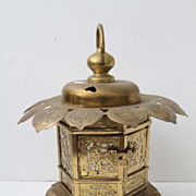 SOLD Brass Asian Pagoda Lantern Lighting