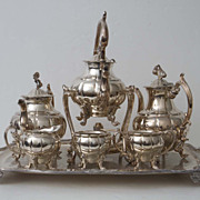 SOLD English Silverplate Large Tea Coffee Set Seven Matching Pieces